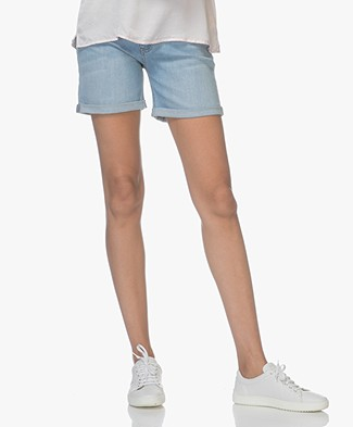 BOSS J70 Hershey Girlfriend Denim Shorts - Bright Blue