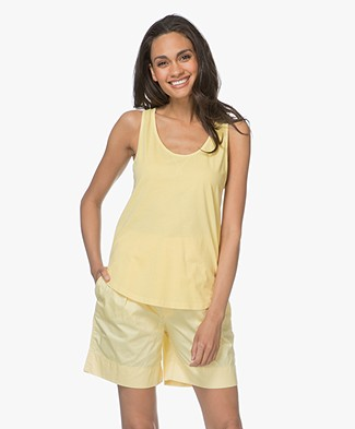 Closed Garment Dyed Cotton Tank Top - Mellow Yellow