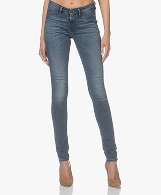 Denham Spray Super Tight Fit Jeans - Washed Blue