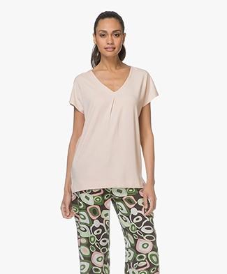 Kyra & Ko Coco V-hals T-shirt - Salmon