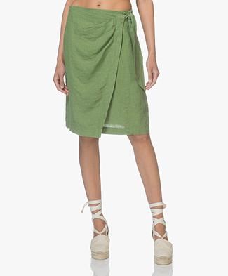Kyra & Ko Karin Linen Wrap Skirt - Green
