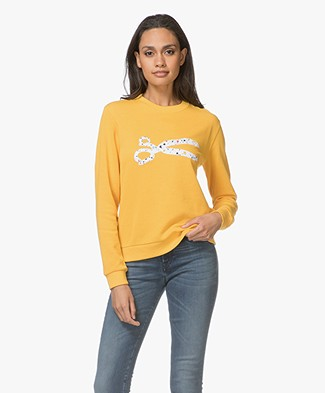 Denham Dot Scissor Sweatshirt - Deep Gold