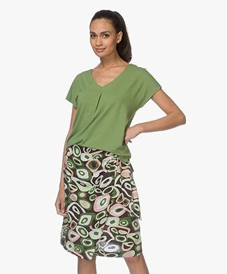 Kyra & Ko Coco V-hals T-shirt - Groen