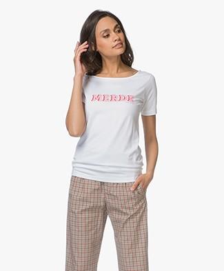 Plein Publique Merde Modalmix Print T-shirt - Wit