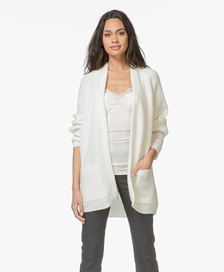 By Malene Birger Belinta Mohair Cardigan - Soft White