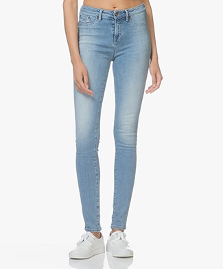 Denham Needle High Skinny Jeans - Medium Blauw