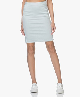 Drykorn Falon Denim Pencil Skirt - Light Blue