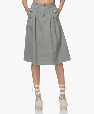 Filippa K Flared Pleat Rok - Sage