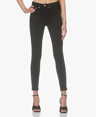 Rag & Bone High Rise Ankle Skinny Jeans - Black