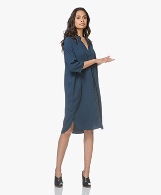By Malene Birger Macosali Loose-fit Jurk - Skyline