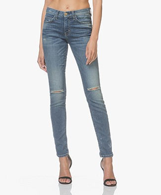 Current/Elliott The High Waist Skinny Jeans - Division Destroy