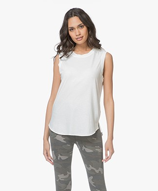 James Perse Easy Muscle Tank - Wit