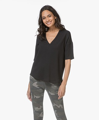 Rag & Bone Phoenix French Terry T-shirt - Zwart