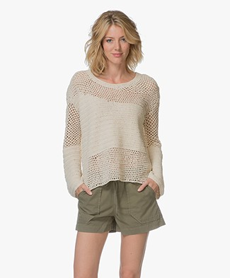FWSS Birgit Crochet Flared Sleeve Sweater - Antique White