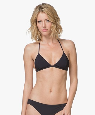 Filippa K Soft Sport Triangle Bikinitop - Navy