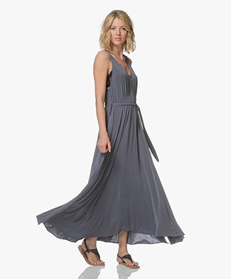 Friday's Project Cupro A-line Dress - Washed Blue