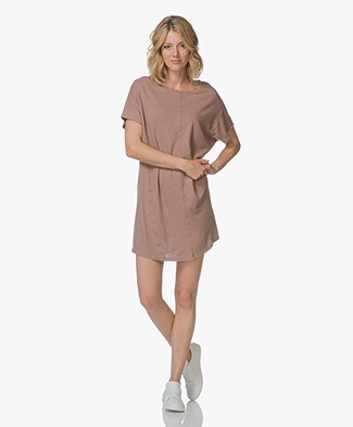 Friday's Project Oversized Linen Jersey Mini Dress - Dirty Pink