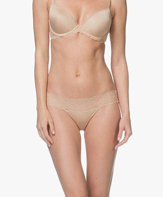Calvin Klein Seductive Comfort Kanten Slip - Bare