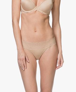 Calvin Klein Seductive Comfort Lace Thong - Bare