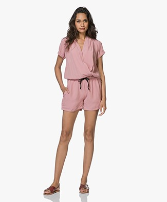 BY-BAR Bo Short Playsuit Solid - Ash Rose