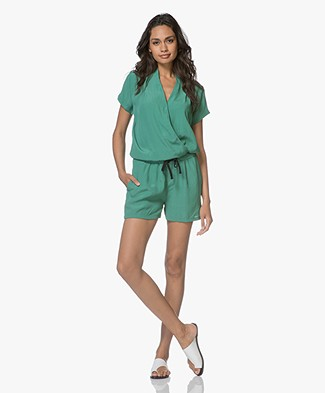 BY-BAR Bo Short Playsuit Solid - Emerald