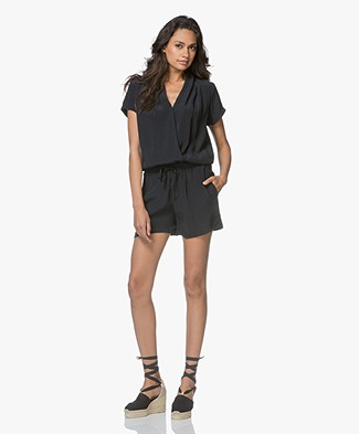 BY-BAR Bo Short Playsuit Solid - Off Black