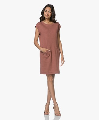 BY-BAR Rose Cap Sleeve Sweat Dress - Plum