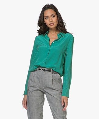 Equipment Essential Zijden Blouse - Tennis Court