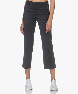 Filippa K Hudson Twill Cropped Trousers - Navy
