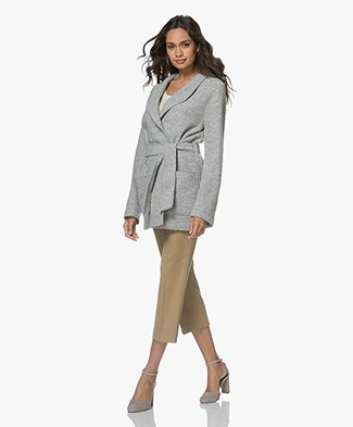 Filippa K Leia Belt Jacket - Light Grey