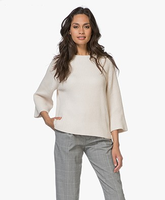 Filippa K Ribbed Cotton Trui - Bisque