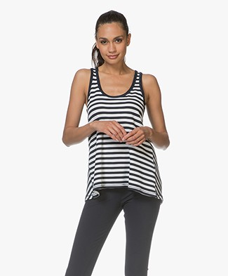 Rag & Bone Kat Split Back Tanktop - Wit/Navy