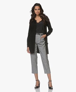 Resort Finest Pockets Cardigan in Cashmere Blend - Black
