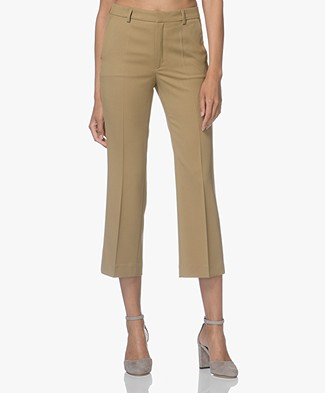 Filippa K Hudson Twill Cropped Pants - Kelp