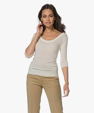 Filippa K Sheer Merino Knit T-shirt - Canvas