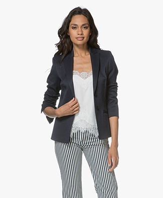HUGO Astelle Getailleerde Blazer - Open Blue