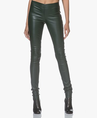 Joseph Leather Stretch Leggings - Bermuda