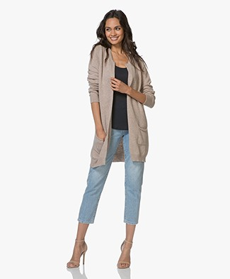 Resort Finest Pockets Cardigan in Cashmere Blend - Beige