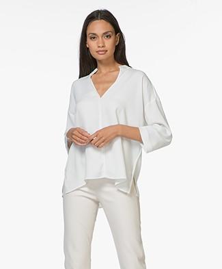 By Malene Birger Acosa V-slit Blouse - Soft White