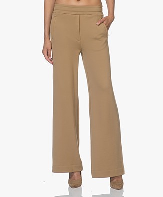 By Malene Birger Saveun French Terry Wide Leg Pants - Khaki