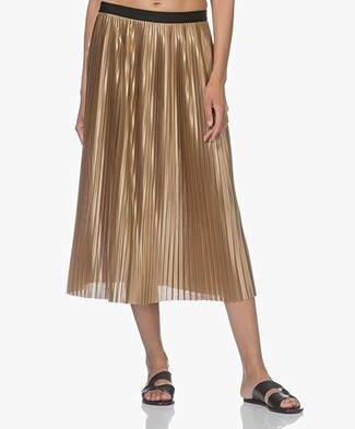 By Malene Birger Verlano A-line Pleated Skirt - Khaki