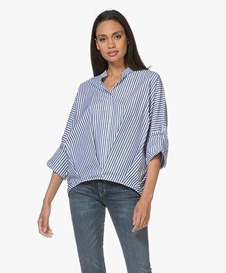 HUGO Corbina Striped Poplin Blouse - Open Miscellaneous