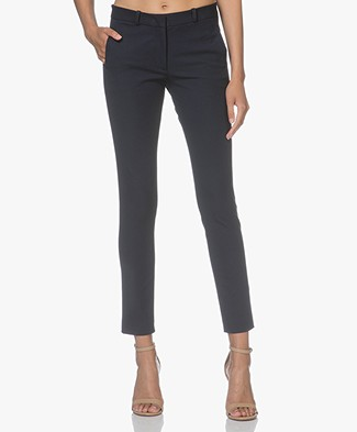 Joseph New Eliston-Gabardine Stretch Pants - Navy