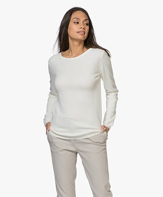 Resort Finest Forte Pullover met Ronde Hals - Off-white