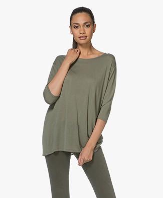 Sibin/Linnebjerg Ash Cashmere-blend Sweater - Khaki Green