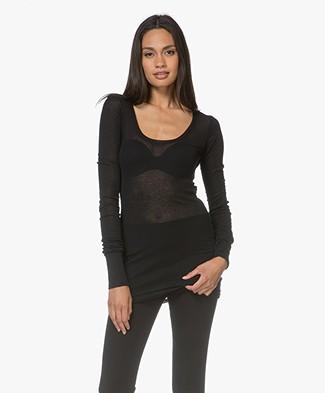 American Vintage Massachusetts Long Sleeve - Black