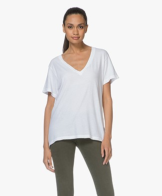 Current/Elliott The V-Neck Tee - Sugar