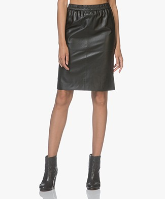 Filippa K Agnes Leather Skirt - Black