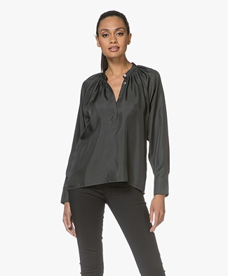 Filippa K Gathered Silk Blouse - Enigma