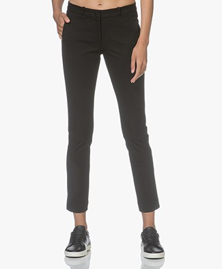 Joseph New Eliston Gabardine Stretch Pants - Black